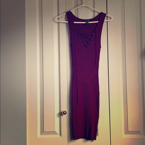 Form Fitting Lace Up Dress